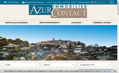 Site internet de Azur Contact Immobilier