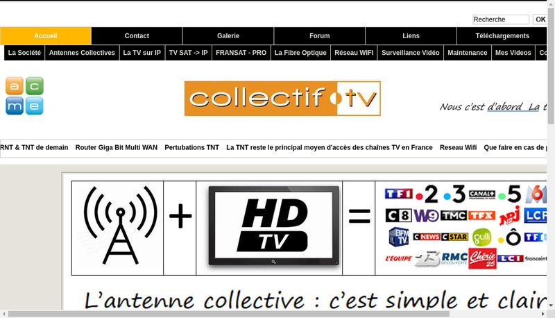 Capture d'écran du site de Azur Controle