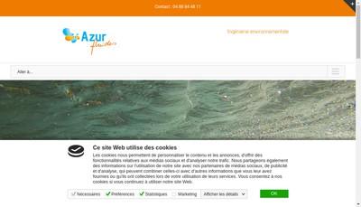 Site internet de Azur Fluides