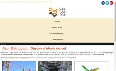 Site internet de Azur Geo Logic