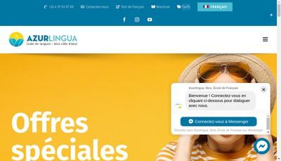 Site internet de Azurlingua