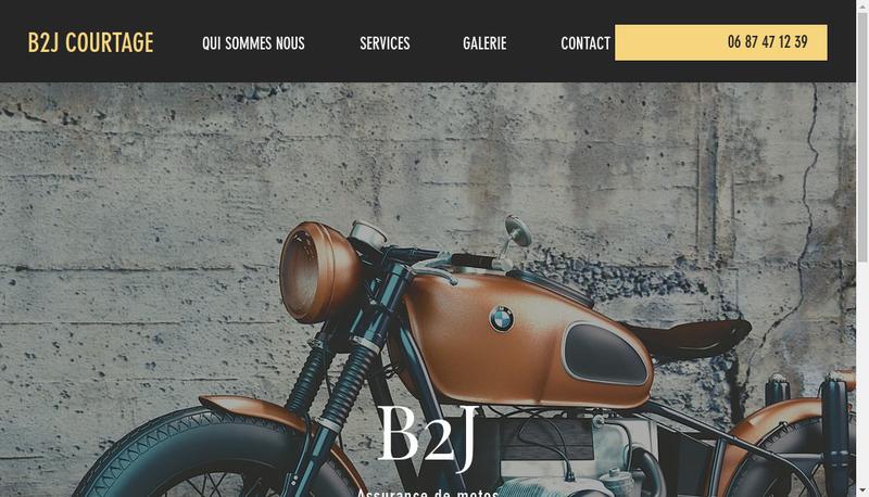 Capture d'écran du site de B2J Courtage
