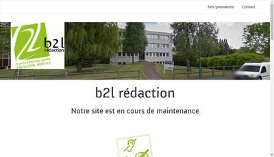Site internet de B2L Redaction