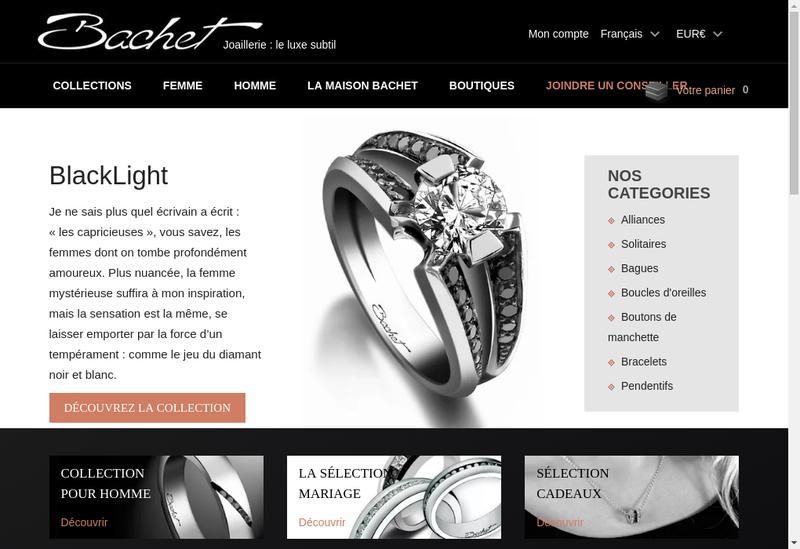 Capture d'écran du site de Bachet
