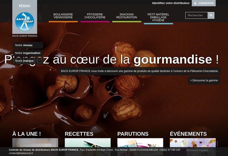 Capture d'écran du site de Michard Pays de Loire