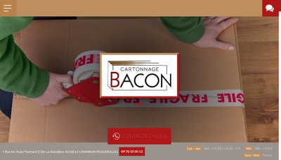 Site internet de Cartonnage Bacon