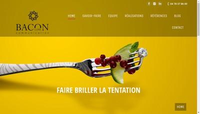 Site internet de Bacon Luxe Communication