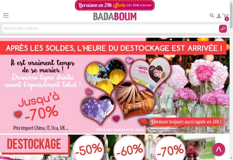 Capture d'écran du site de Badaboum Web