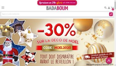 Site internet de Badaboum Web