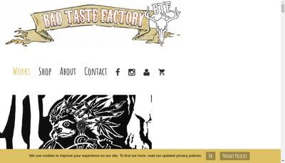 Site internet de Bad Taste Factory