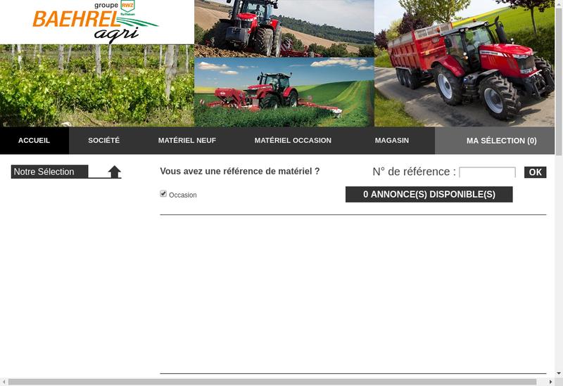Capture d'écran du site de Baehrel Agri