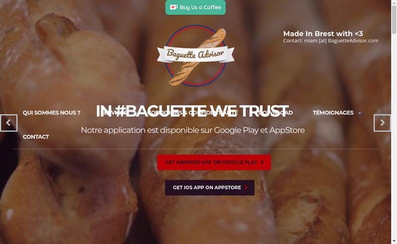 Capture d'écran du site de Baguette Advisor