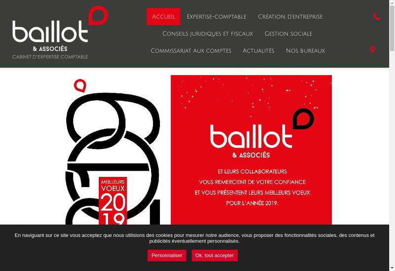Capture d'écran du site de Baillot & Associes