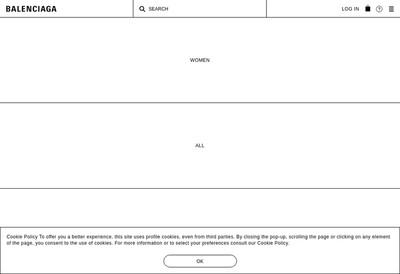 Site internet de Balenciaga SA