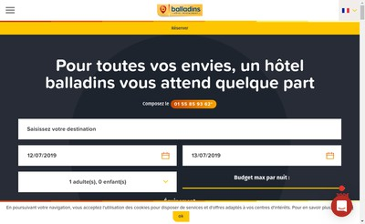 Site internet de Balladins