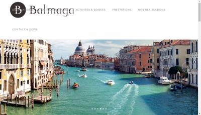 Capture d'écran du site de Balmaga