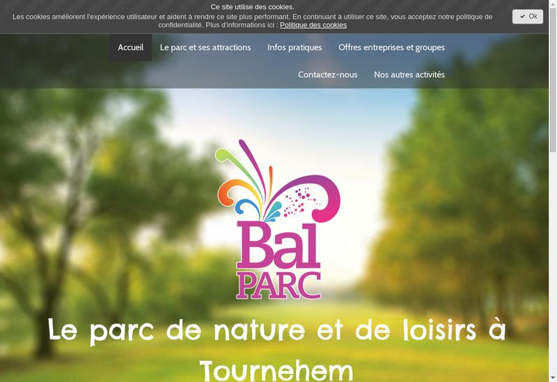 Capture d'écran du site de BAL PARC