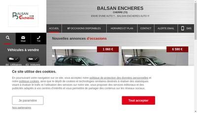 Site internet de Balsan Encheres