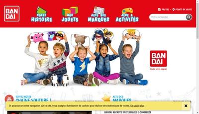 Site internet de Bandai Namco Holdings France SAS
