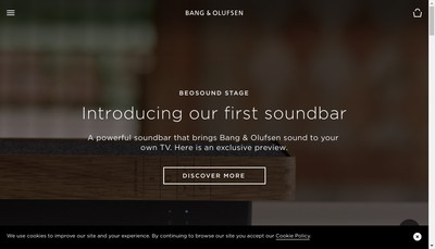 Site internet de Bang & Olufsen France