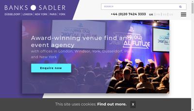 Capture d'écran du site de Banks Sadler