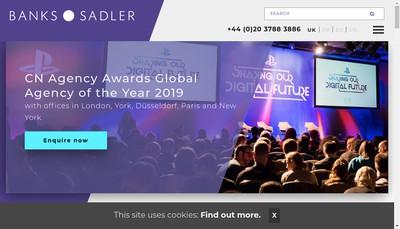 Site internet de Banks Sadler