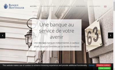 Site internet de Banque Hottinguer