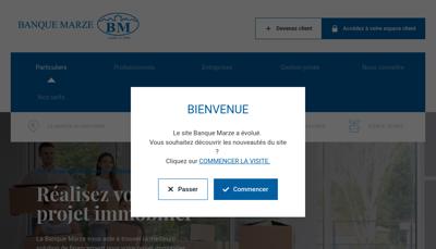 Capture d'écran du site de Banque Marze