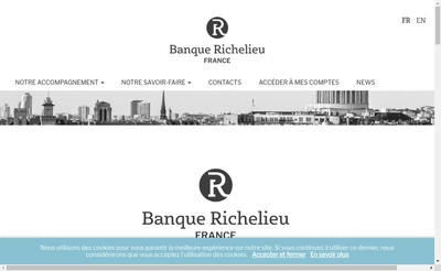 Site internet de Banque Richelieu France
