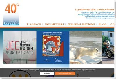 Site internet de 40 Degres sur la Banquise