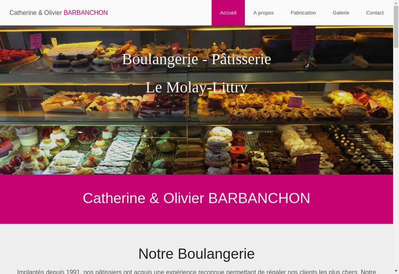Capture d'écran du site de Catherine Bisson