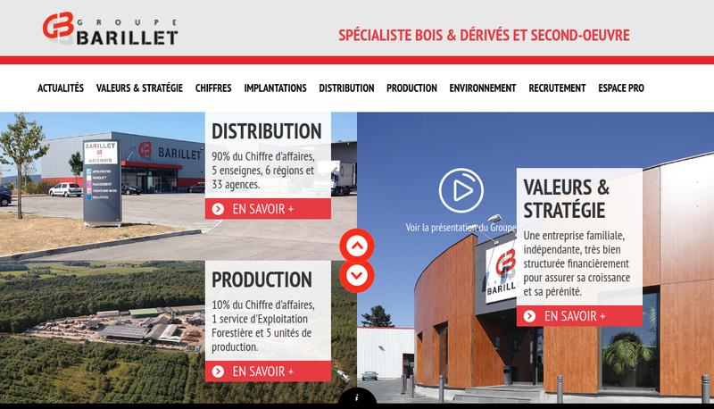 Capture d'écran du site de Exploitations Forestieres Barillet