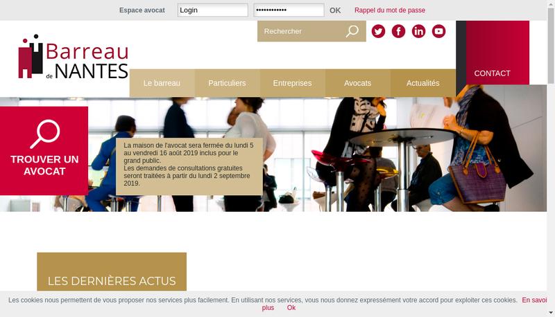 Capture d'écran du site de Erwan Leme