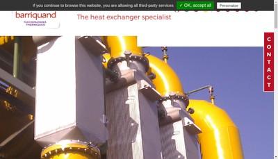 Site internet de Barriquand Technologies Thermiques