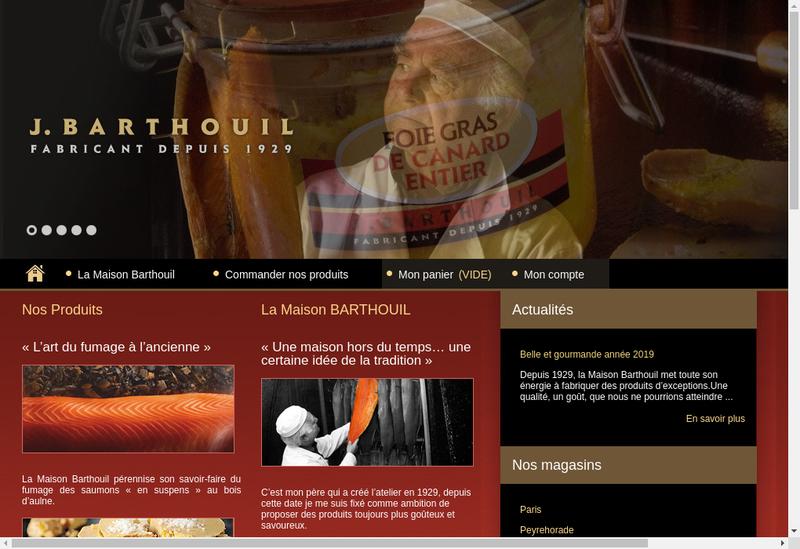 Capture d'écran du site de Barthouil