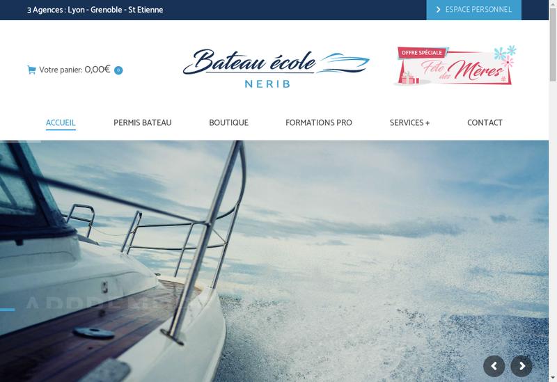 Capture d'écran du site de NERIB