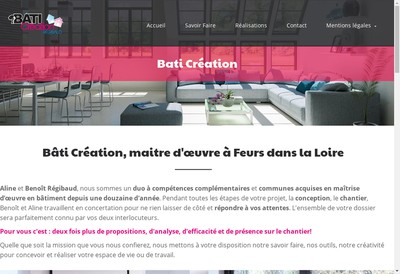 Site internet de Bati Creation Regibaud