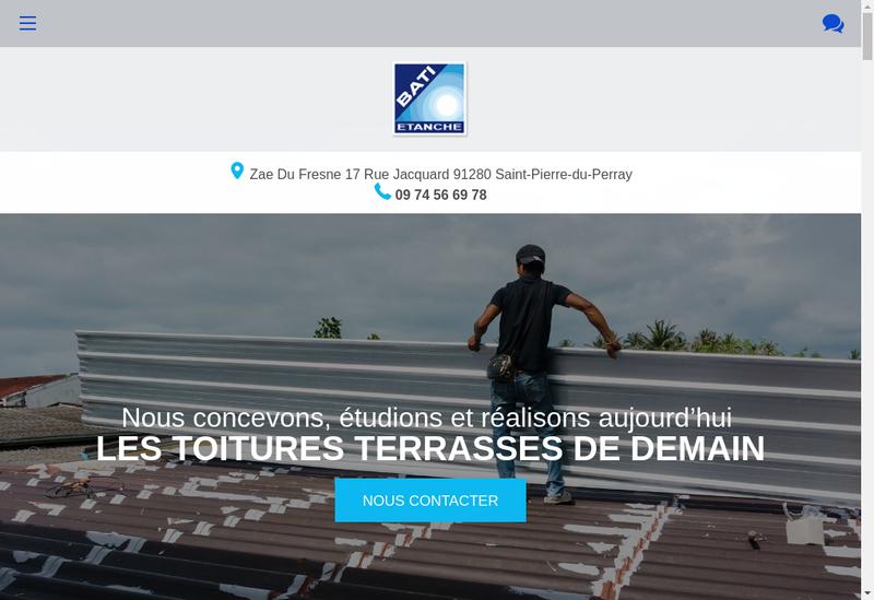 Capture d'écran du site de Tep Etancheite, Lg Developpement, Bati