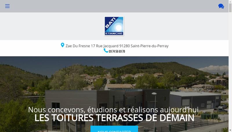Capture d'écran du site de Tep Etancheite, Lg Developpement, Bati Etanche