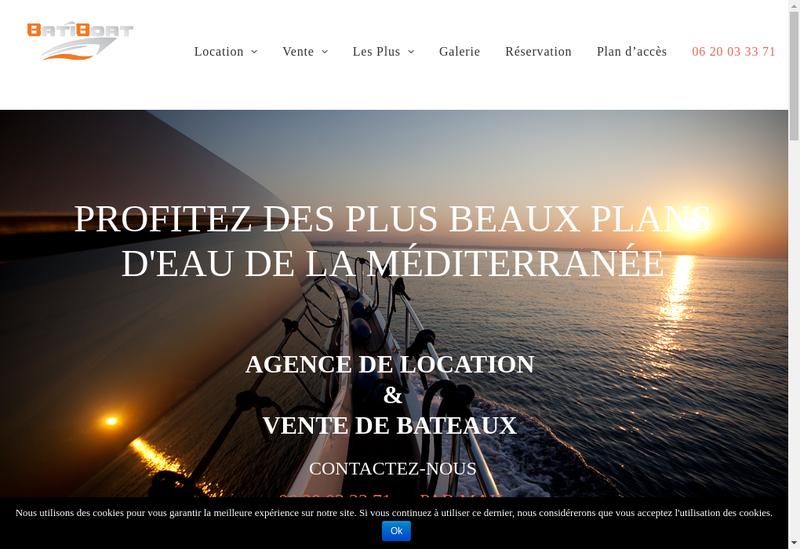 Capture d'écran du site de Bati Boat Location