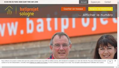 Site internet de Bati-Projet Sologne