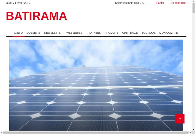 Capture d'écran du site de Batirama