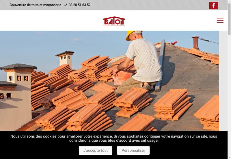 Capture d'écran du site de Batoit