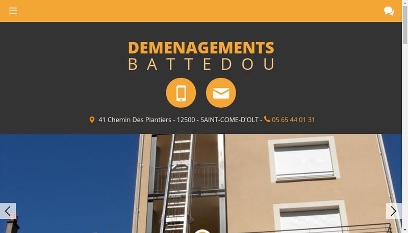 Capture d'écran du site de Demenagements Battedou