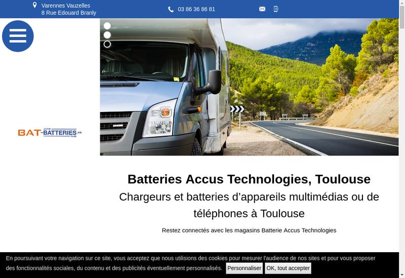 Capture d'écran du site de Manbat France