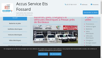 Site internet de Etablissement Fossard Accus-Service