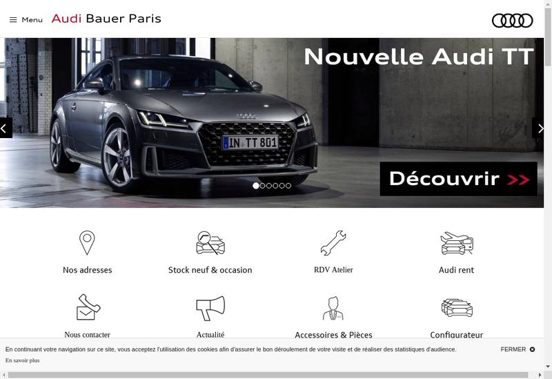 Capture d'écran du site de Bauer Paris Saint-Ouen