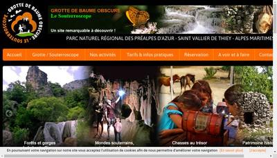 Site internet de Grotte de Baume Obscure