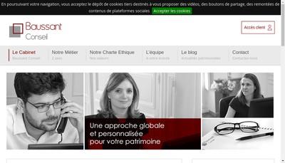 Site internet de Baussant Conseil
