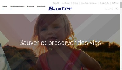 Site internet de Baxter SAS